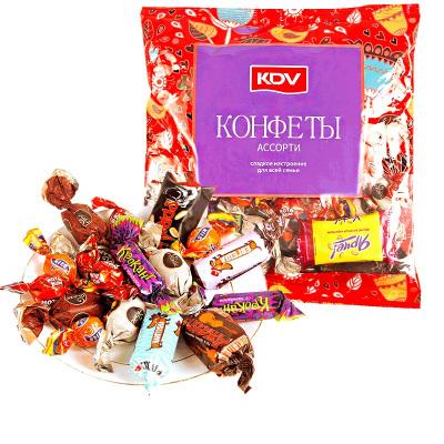 【第二份半价】俄罗斯KDV混合糖果500g袋装夹心巧克力紫皮糖婚庆喜糖送礼糖果小零食