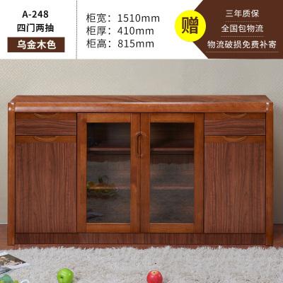 茶水柜實木色餐邊柜儲物柜簡約柜子客廳碗柜廚房收納邊柜茶柜酒柜定制! A-248 4門