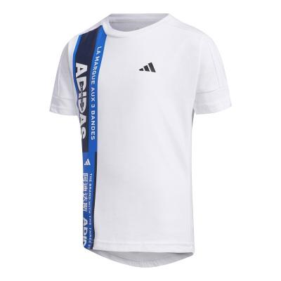 阿迪達斯(adidas)夏季男小童裝訓練運動舒適短袖T恤FM9797