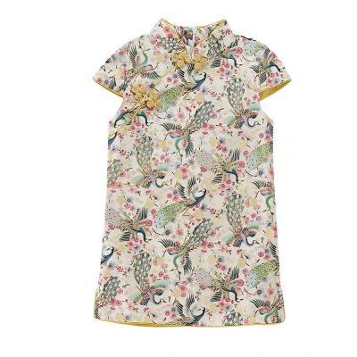 童裝女童2019新款夏季兒童修身旗袍裙公主裙中國風連衣裙洋氣裙子 威珺