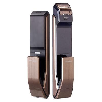 三星(SAMSUNG)指纹锁 密码磁卡锁智能防盗门锁电子锁SHS-DP718(咖啡棕)