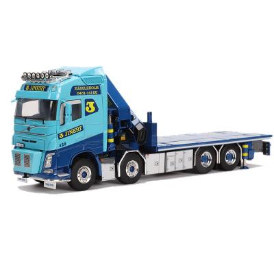 適用于荷蘭WSI 1:50 沃爾沃FH4 工程車模型 隨車吊平板拖車01-2212