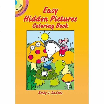 英文原版 Easy Hidden Pictures Coloring Book 口袋游戏书 7天左右发货