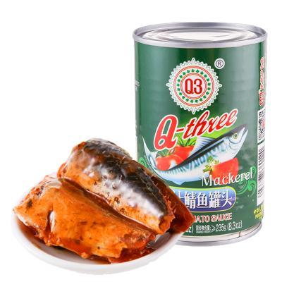 Q3(Q-three)茄汁鲭鱼罐头425g 鱼类罐头 方便速食 厨房食品高蛋白海鲜罐头 即食零食休闲 午餐肉伴侣泡面搭档