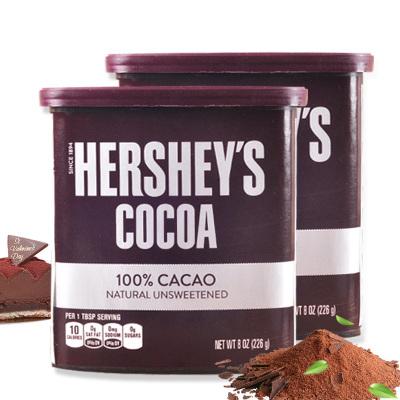 美國進口 好時可可粉226g 低糖黑巧克力粉沖飲代餐愛寶焙臟臟包烘焙原料