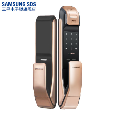 三星(SAMSUNG)智能防盗指纹密码锁SHP-DP728 电子锁磁卡锁推拉开门