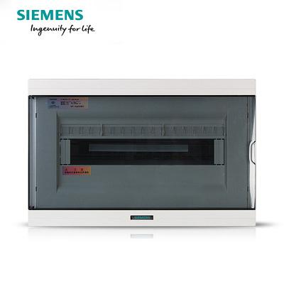 西门子(SIEMENS)16回路强电布线箱 空气开关箱配电箱透明色