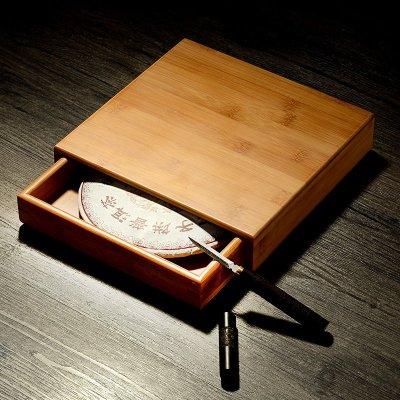 普洱茶盒竹制分茶盘黑茶开茶盘实木功夫茶具配件茶道零配