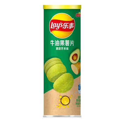 乐事无限 牛油果薯片 清甜芥末味 90克/罐