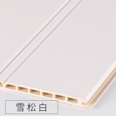竹木纖維墻裙生態木護墻板防水墻面裝飾板吊頂材料背景墻陽臺快裝 雪松白