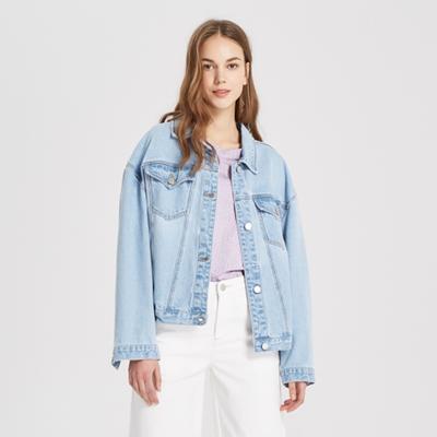 【1件3折價:157.5】MECITY女裝新款復古潮流短款牛仔夾克外套