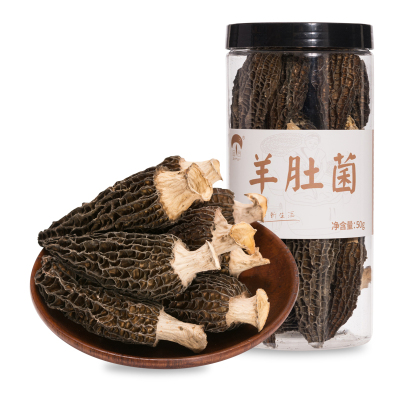 菌益 羊肚菌干货云南特产野生菌特级剪柄新鲜羊肚菌50g(非500g)