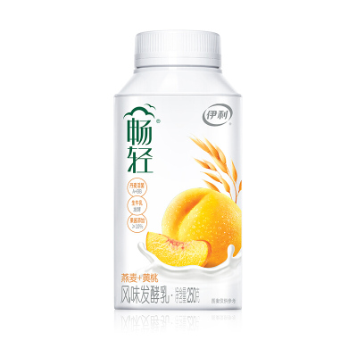 伊利 暢輕酸奶 風味發酵乳低溫酸牛奶 酸奶 暢輕黃桃1瓶250g