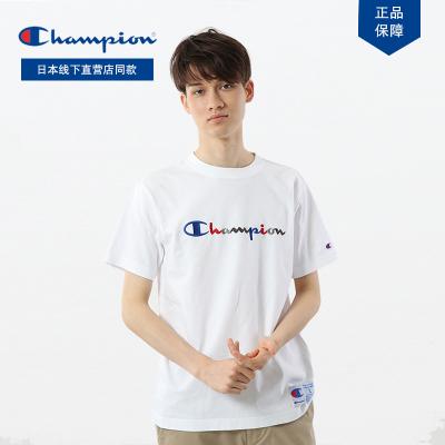 日版Champion冠軍正品草字logo刺繡C3-H371情侶百搭潮流T恤
