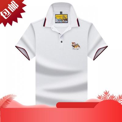 高爾夫球服裝男T恤大碼短袖男夏新款 速干Polo衫男士休閑戶外運動[定制] A白色 S