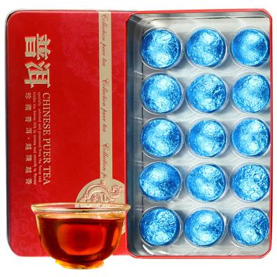 滇湘 普洱茶 云南普洱熟茶 糯米香普洱茶 小沱茶 迷你沱茶 4克/顆 每盒15顆60克 黑茶 茗茶