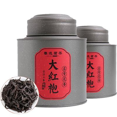 【買二送一】春逸茗茶 大紅袍茶葉 禮盒裝武夷山巖茶濃香炭焙 罐裝125g