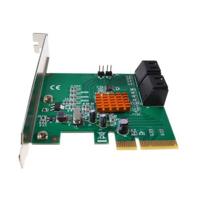 魔羯(MOGE)PCIEx4轉接卡 MC2688 臺式機SATA3.0陣列卡RAID0/1/10電腦擴展卡