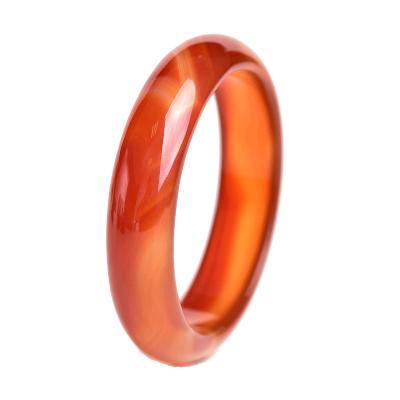 天然红玛瑙手镯子玛瑙玉髓镯子自然花纹红黄玉石送老婆母亲节礼物