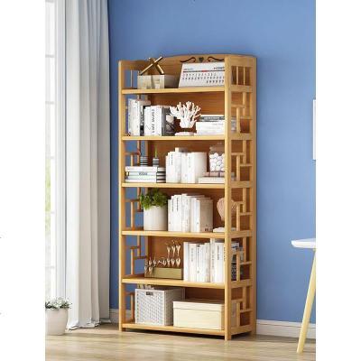 簡易書架置物架兒童書柜桌上書架簡約落地學生用楠竹小書架省空間