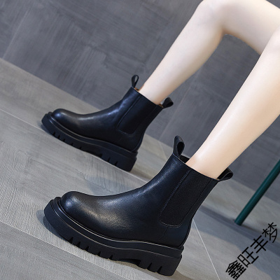 馬丁靴女夏季薄款英倫風短靴2020年新款潮ins酷厚底春秋單靴