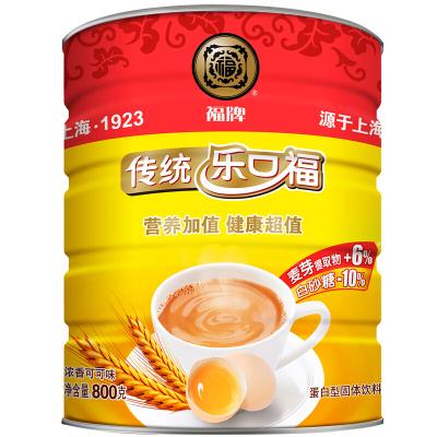 福牌 樂口福 老上海傳統麥乳精 濃香可可味蛋白型固體飲料 罐裝800g