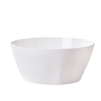 景德鎮陶瓷碗7英寸方形飯碗面碗防燙湯碗家用骨瓷純白色簡約骨瓷餐瓷器