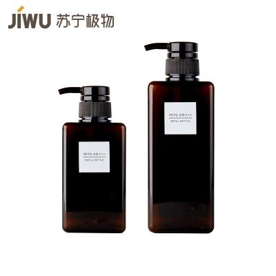 苏宁极物 四方乳液型替换瓶(棕色)