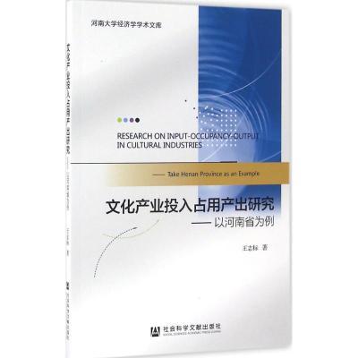 文化產業投入占用產出研究:以河南省為例9787509791905社會科學文獻出版社