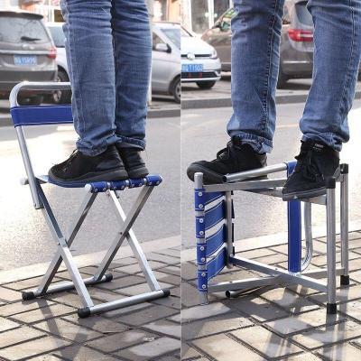 家用折叠凳子马扎加户外钓鱼椅小凳子军工马扎便携凳加厚靠背椅子