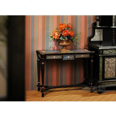 枳记家 彩绘玄关台 沙发边几 大厅玄关柜 梳妆台 欧式 彩绘 外销家具