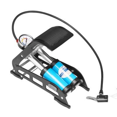 永久高压脚踩式打气筒脚踏式充气泵汽车用打气泵脚压自行车充气筒气管子合金钢筒身