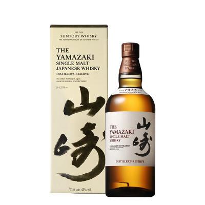 日本進口洋酒 三得利 山崎1923單一麥芽威士忌700ML 原裝正品