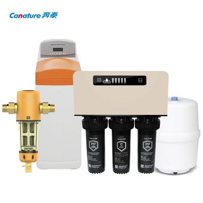開能(Canature)奔泰凈水器套餐 前置過濾器+凈水器+軟水機 家用母嬰凈水套餐