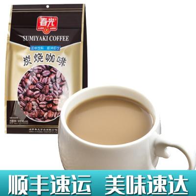 炭烧咖啡360g袋装 春光 冲调饮品速溶咖啡粉三合一食品特浓传统经典香浓正宗海南特产