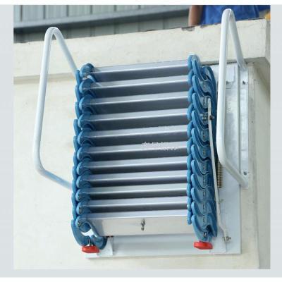 加厚壁掛式閣樓伸縮樓梯室內室外平臺復式家用折疊升降收縮拉伸梯 冷軋鋼2--2.3米