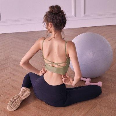 吊帶運動內衣女防震防下垂美背健身服胸罩瑜伽背心外穿高強度文胸