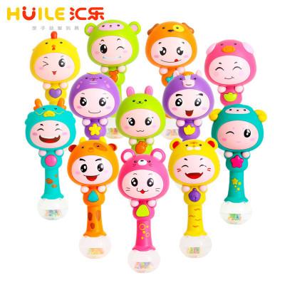 匯樂玩具(HUILE TOYS)十二生肖節奏棒搖鈴 817 寶寶音樂手搖鈴/嬰兒兒童玩具 塑料/0-3個月