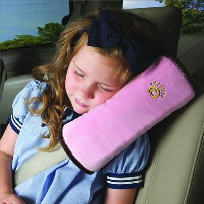 淘爾杰TAOERJ【2個裝】汽車兒童護肩套 車載卡通毛絨安全帶套枕頭 嬰兒寶寶車用可愛抱枕安全帶裝飾