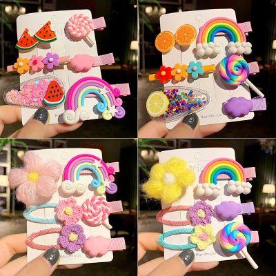 韓國兒童發卡女公主寶寶可愛糖果色發飾網紅彩虹小發夾邊夾子頭飾