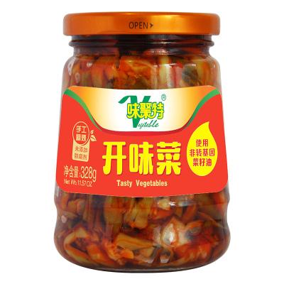 味聚特 开味菜 328g 咸菜下饭菜特产四川泡菜开味菜328g瓶装