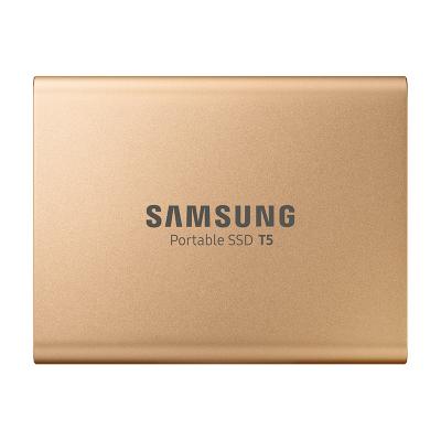 三星(SAMSUNG)移動固態硬盤PSSD T5 500GB USB3.1 1.8英寸 金色版