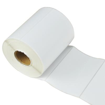 豪億(HooYe)80X60X800不干膠標簽銅版紙標簽打印紙 單排800張白色