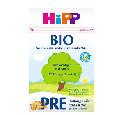 【環球hi淘】【假一賠百】德國原裝進口Hipp喜寶有機嬰幼兒奶粉嬰兒配方牛奶粉pre段0-3月600g