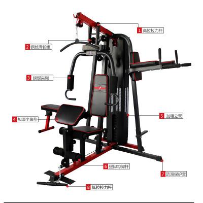 康强力量训练器械(综合型)BK178A多功能家用力量3人站力量训练器械承重200 尺寸2500*2000*2100