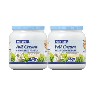 2件装| Maxigenes美可卓全脂奶粉 1kg/罐 澳洲进口 成人奶粉 蓝胖子