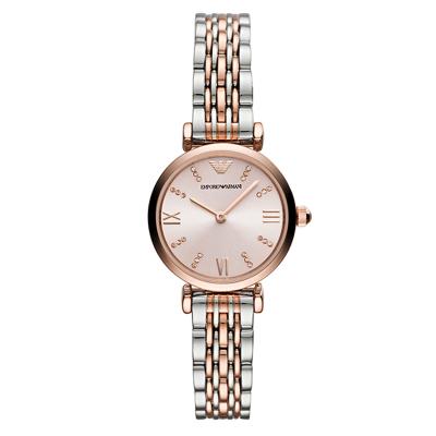 海外直郵歐美品牌原裝進口包稅阿瑪尼,EMPORIO.ARMANI時尚石英表女士鋼帶手表小表盤腕表AR11203