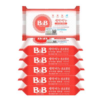 保寧(B&B) 嬰兒洗衣皂/寶寶肥皂200g 洋槐甘菊混合6塊