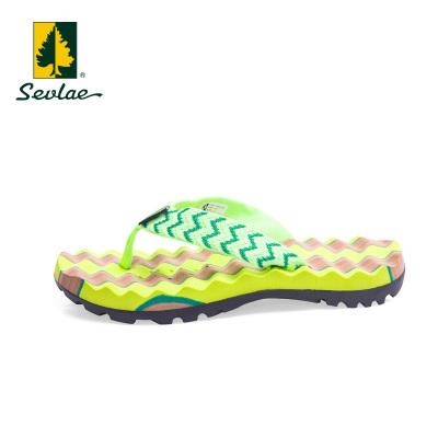 sevlae/圣弗萊女士夏季沙灘拖鞋防滑人字拖休閑運動涼拖鞋女鞋子