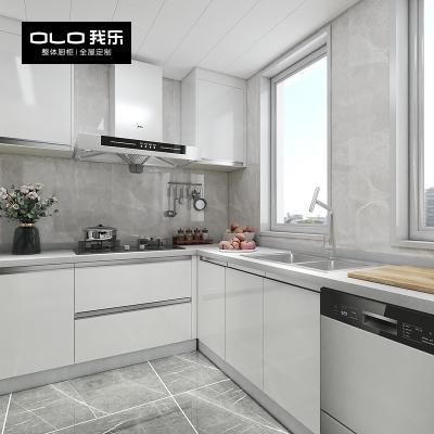 我樂櫥柜穆薩 現代簡約整體廚房廚柜碗柜定制家用家具開放式裝修